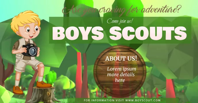 Boys Scouts Template Facebook Shared Image