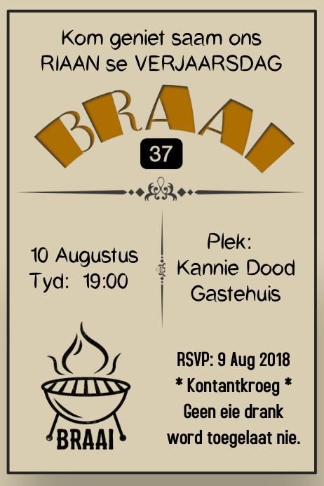Braai Invitation