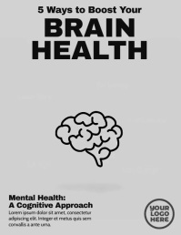 Brain Health Five Points Post Folder (US Letter) template