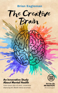 Brain Watercolor Splash Book Cover