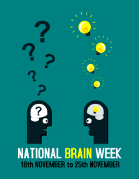 Brain Week Flyer (US Letter) template