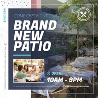 Brand new Patio Square image Instagram na Post template