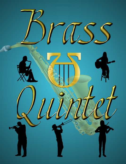 Brass Quintet Book Cover Pamflet (VSA Brief) template