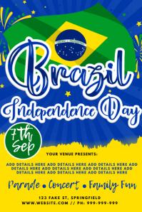 Brazil Independence Day Poster Cartaz template