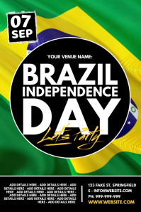 Brazil Independence Day Poster template