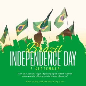 Brazil independence day social media post Iphosti le-Instagram template
