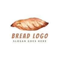 bread bakery baked editable logo template