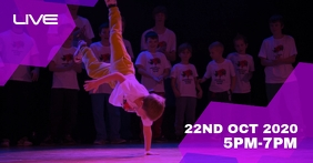 Break dance class Facebook Event Cover template
