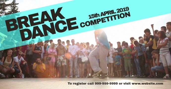 Break dance event Gedeelde afbeelding op Facebook template