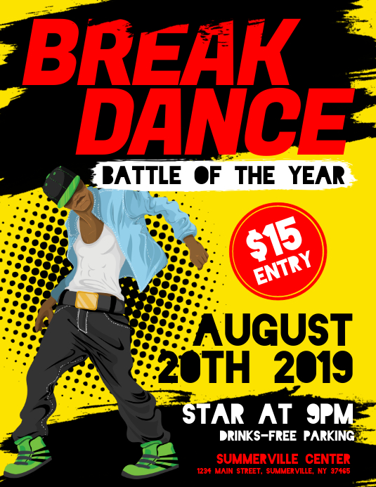 Break Dance Flyer