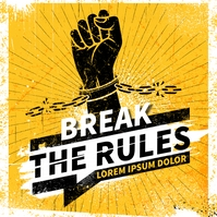 BREAK THE RULES BANNER Instagram-opslag template