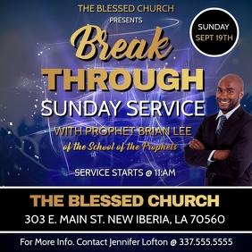 BREAK THROUGH SUNDAY SERVICE CHURCH FLYER