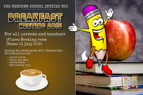 Breakfast and coffee meeting poster for parent, teacher and students
