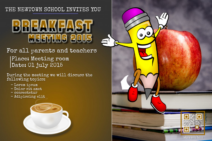 Breakfast and coffee meeting poster for parent teacher and students breakfast and coffee meeting poster for parent teacher and students altavistaventures Images