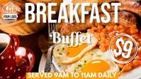 Breakfast Buffet Animated Template Tampilan Digital (16:9)