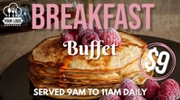 Breakfast Buffet Template Ekran reklamowy (16:9)