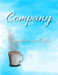 Breakfast coffee flyer