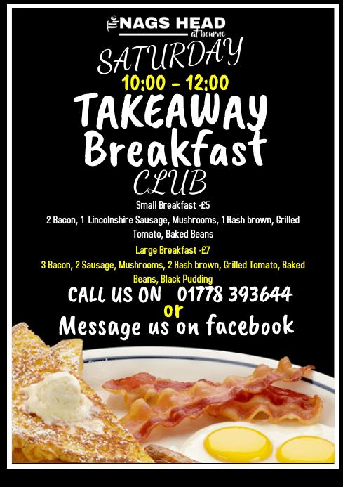 breakfast A4 template