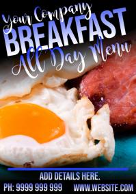 Breakfast A5 template