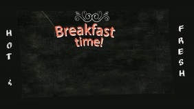 Breakfast Pantalla Digital (16:9) template