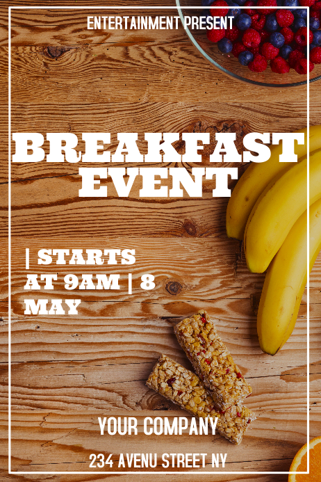 Breakfast event flyer template