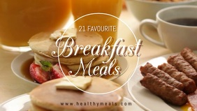 breakfast facebook video cover template