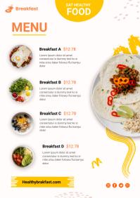 Breakfast menu A4 template