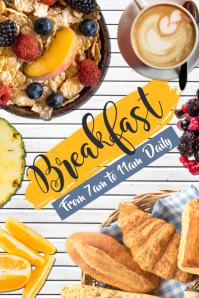 Breakfast Menu Poster Template