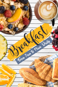 Breakfast Menu Poster Template