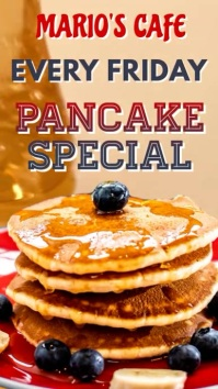 Breakfast Pancake Instagram Video Template Digitale Vertoning (9:16)