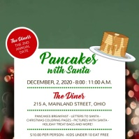 Breakfast Pancakes with Santa Square Video