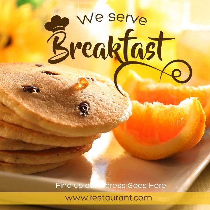Breakfast Promo Instagram Video template Instagram-opslag