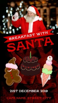 Breakfast santa on christmas Instagram Story template