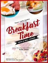 Breakfast Video Flyer Volante (Carta US) template