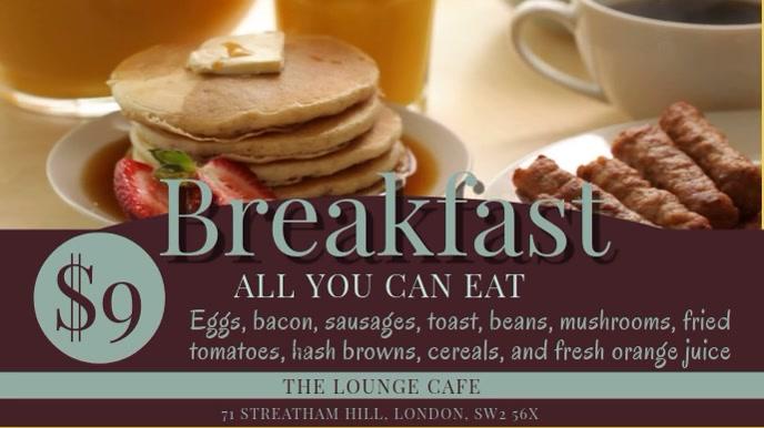 Breakfast Video Template Ekran reklamowy (16:9)