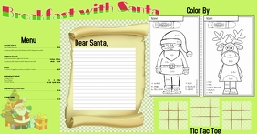 Breakfast w/ Santa Activity Place Mat W/ Menu