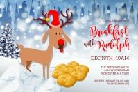 Breakfast With Rudolph Invitation Этикетка template
