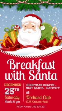 Breakfast with Santa, Christmas Indaba yaku-Instagram template