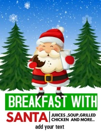 breakfast with Santa,Christmas Flyer (US Letter) template