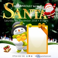 Breakfast With Santa Square (1:1) template