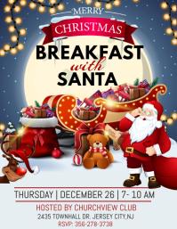 breakfast with santa Pamflet (Letter AS) template