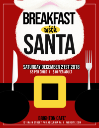Breakfast with Santa Flyer (US Letter) template