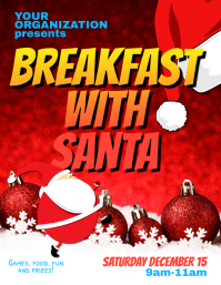 Breakfast with Santa Flyer Template