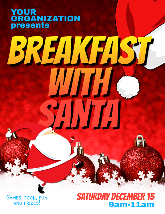 Breakfast with Santa Flyer Template