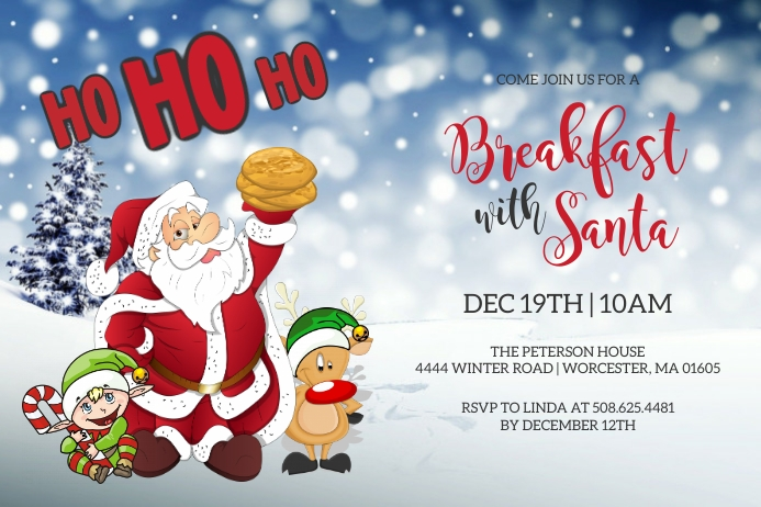 Breakfast With Santa Invitation Tatak template