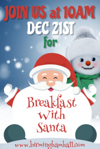Breakfast with Santa Poster Template