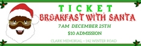 breakfast with santa ticket Cartel de 2 × 6 pulg. template