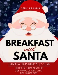 breakfast with santa video template Flyer (US-Letter)