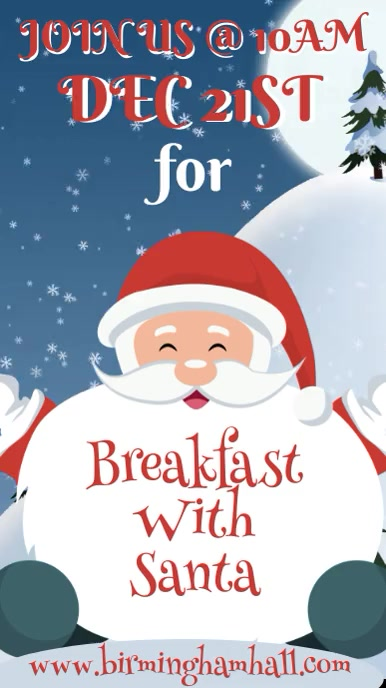 Breakfast with Santa Video Template Digitalt display (9:16)