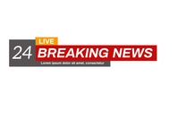 BREAKING NEWS LOWER THIRDS Poster template